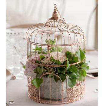 Cage métallisés gold rose