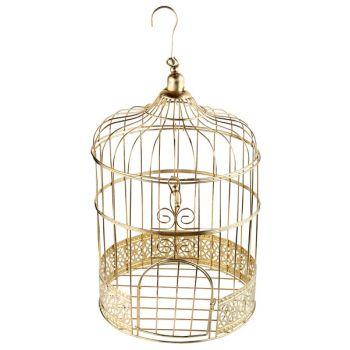 Cage métallisés or