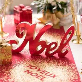 Décor de table Noël rouge