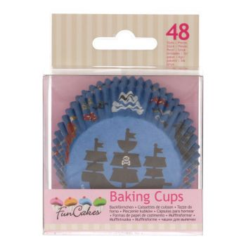 48 Caissettes cupcakes Pirate