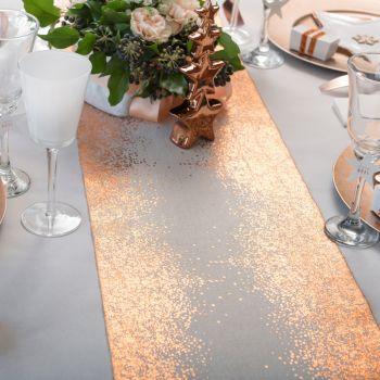 Chemin de table éclat cuivre