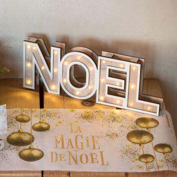Décor NOEL lumineux en bois