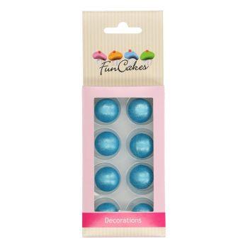 8 Boules de choco bleu Funcakes