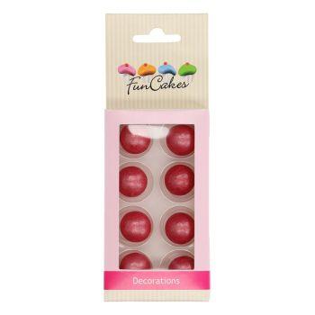 8 Boules de choco fuchsia Funcakes