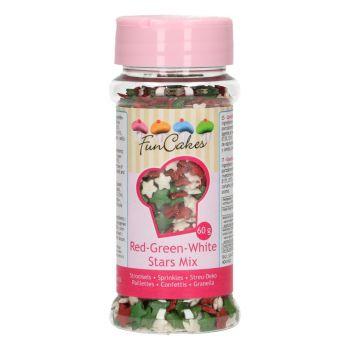 Confettis en sucre mix étoiles Noël Funcakes