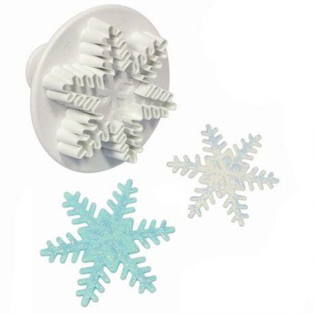 Emporte-pièce de précision à piston en forme de cristal de neige. Facile à utiliser pour un résultat...