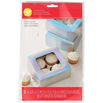 3 boîtes à gâteaux irisé Wilton