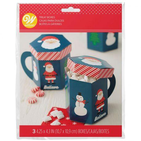 Emballez vos douceurs de Noël dans ces boîtes à confiseries amusantes en forme de mug de Noël !Idéal pour préparer...