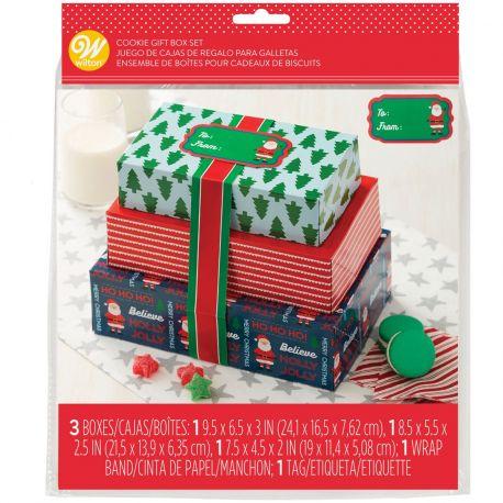 Ces boîtes à confiseries de Wilton sur le thème de Noël sont idéales pour emballer vos biscuits, cupcakes, brownies...