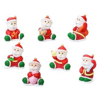 7 Figurines Père Noël gélifiés assortis