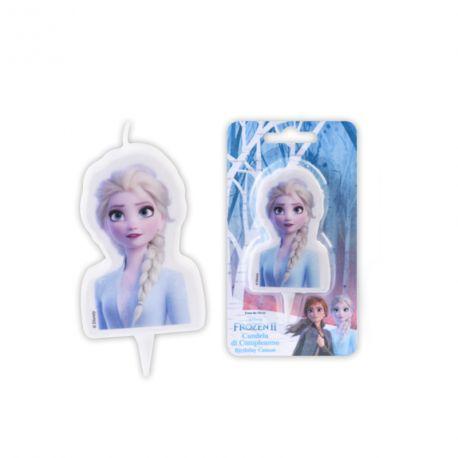 Bougie La Reine des neiges II Elsa pour la décoration du gâteau d'anniversaire de votre enfant.Dimension: 7.5 cm