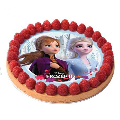 Disque comestible La Reine des Neiges II spécialement conçu pour réaliser un magnifique gateau sur le thème de La Reine des Neiges II en...