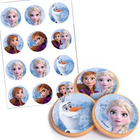 Assortiment de 12 mini disque comestible alimentaire à poser sur vos biscuits et cupcakes d'anniversaire pour une déco rapide et...