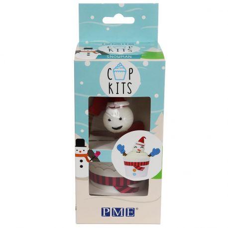 Le kit PME Cup contient tout ce dont vous avez besoin pour fabriquer ces mignons petits gâteaux bonhomme de neige Taille des caissettes...