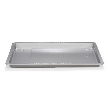 Cette plaque de cuisson Silver-Top de Patisse avec un bord, est réglable en largeur de 33 à 47 cm.Elle convient donc...