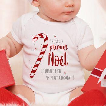 Body bébé Mon 1er Noël Cerf