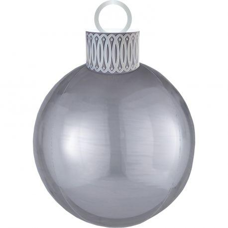 Ballon en aluminium géant en forme de boule de Noël de couleur argent idéal pour amuser les enfants le soir de NoëlCe ballon est à...