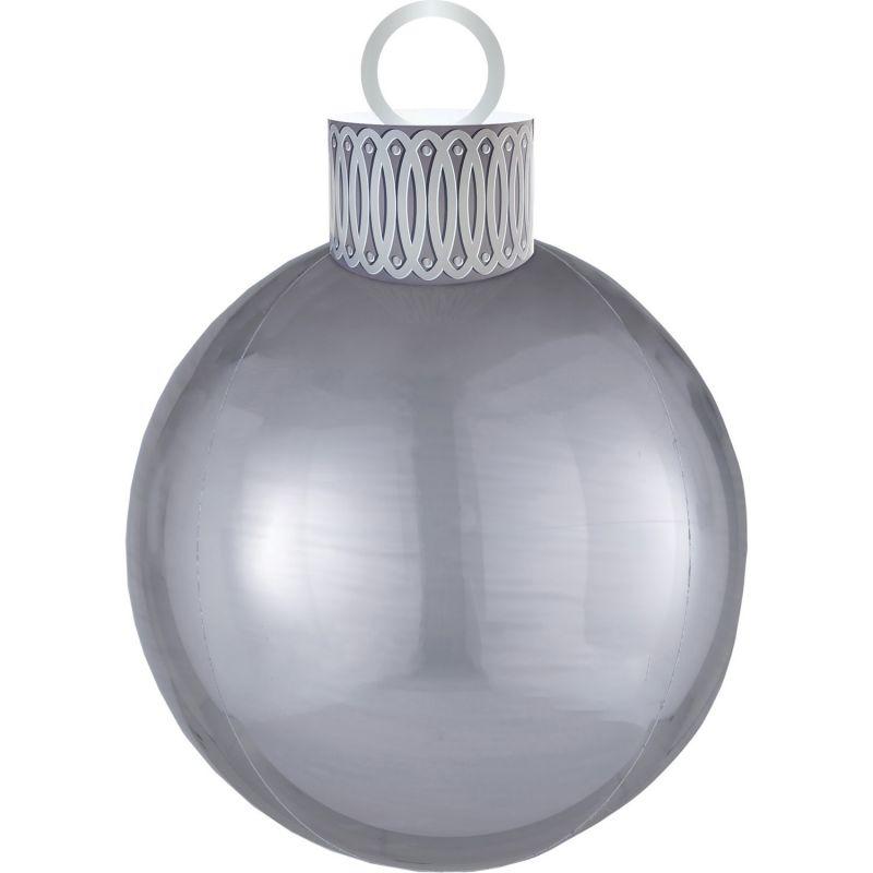 Kit ballon ORBZ XL boule de Noël argent   deco de Noël