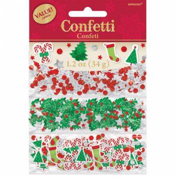 Trio confettis de table métallisés Noël