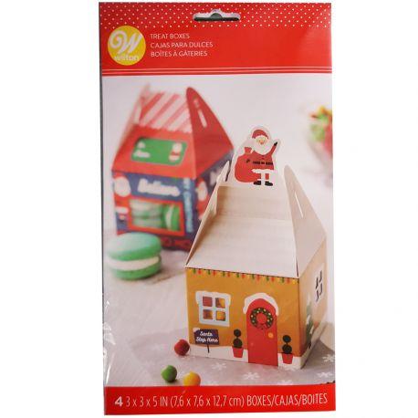 Emballez vos douceurs de Noël dans ces boîtes à confiseries amusantes en forme de châlet miniatures !Idéal pour...