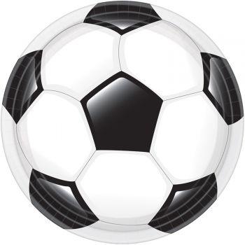 8 Assiettes carton ballon de foot