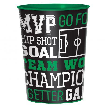 Gros Gobelet en plastique réutilisable sur le thème du foot pour l'anniversaire de votre enfantDimensions : 47clVendu à l'unité