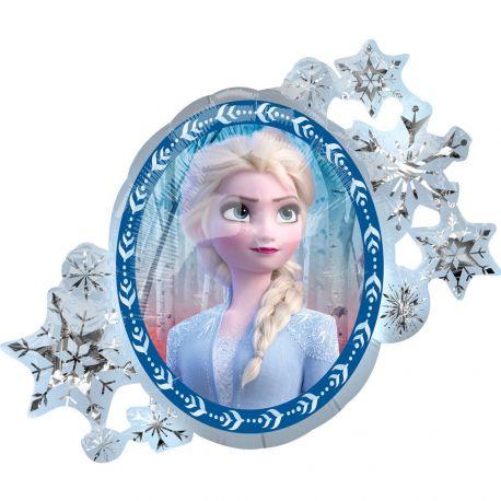 Ballon thème La Reine des Neiges II recto versoBallon en aluminium pouvant étre gonflé avec ou sans hélium à l'aide d'une...