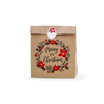 3 Sacs papier kraft Noël