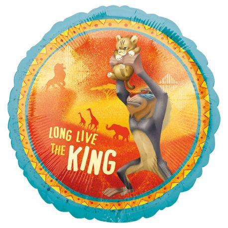 Superbe ballon rond à gonfler à l'hélium décor Le Roi lion idéal pour la décoration d'une belle fête d'anniversairePeut être gonflé...