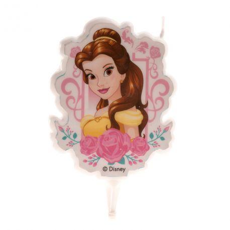 Bougie tête de princesse La Belle pour la décoration du gâteau d'anniversaire de votre enfant.Dimensions: 7.5 cm