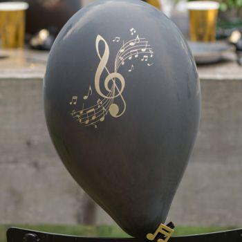 8 ballons latex musique disque d'or