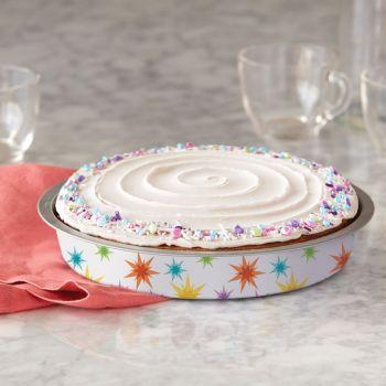 2 moules à gâteau rond étoile filante semi jetable Wilton