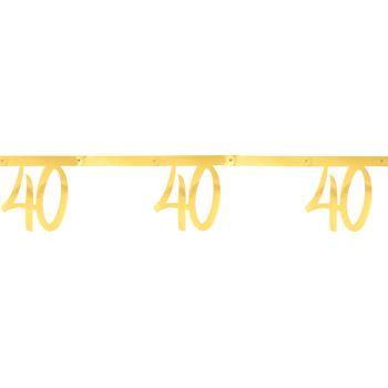 Banderole anniversaire 40 ans or