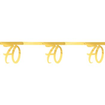 Banderole anniversaire 70 ans or