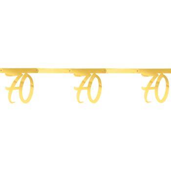 Banderole anniversaire 70 ans or