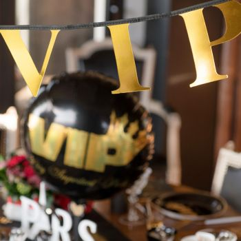 Banderole anniversaire thème VIP