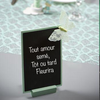 Marque table Ardoise Mint