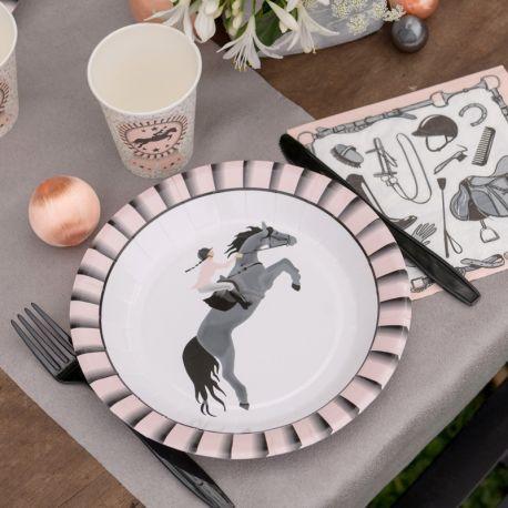 10 Assiettes en carton Happy Birthday or pour la décoration de votre table d' anniversaire.Dimensions : ø 22.5 cm