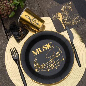 Assiettes Musique or