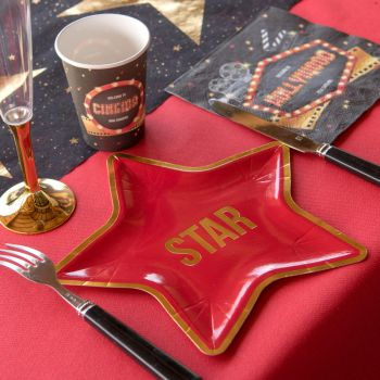10 Assiettes Etoille d'Hollywood
