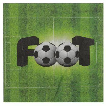 20 Serviettes Foot