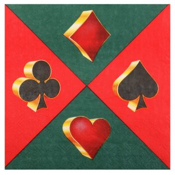 20 Serviettes Casino