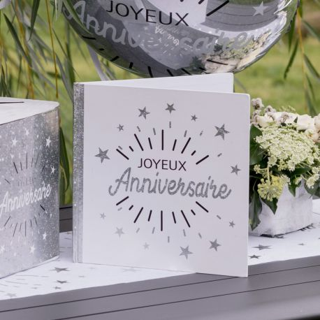 Livre d'or Joyeux Anniversaire etincellant or pour garder les messages de vos amis et familles lors de vos soirées anniversaires,...