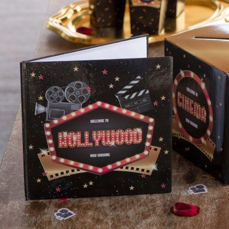 Livre d'or Cinéma Hollywood pour garder les messages de vos amis et familles lors de vos soirées anniversaires, mariage,...