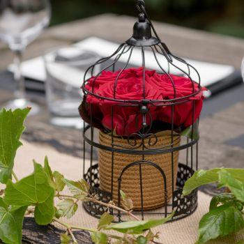 Decor de table cage noire