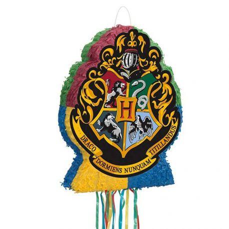 Superbe Pinata à l'effigie des écussons de la maison Poudlard, l'école du célèbre Harry Potter pour une activité de fête d'anniversaire...