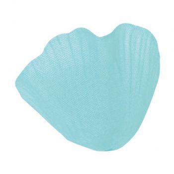 Pétale avec feuille en tissu turquoise