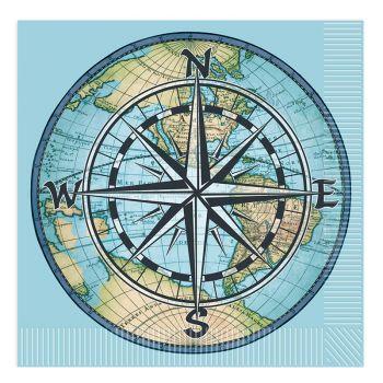 16 Serviettes bon voyage