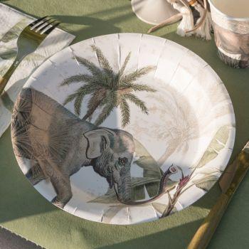 10 Assiettes Jungle India