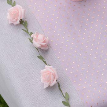 Guirlande de roses rose
